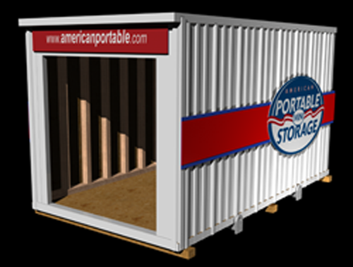 12 foot portable storage from American Portable Mini Storage